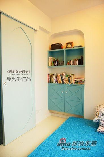 小主人的房间同样以蓝色为主