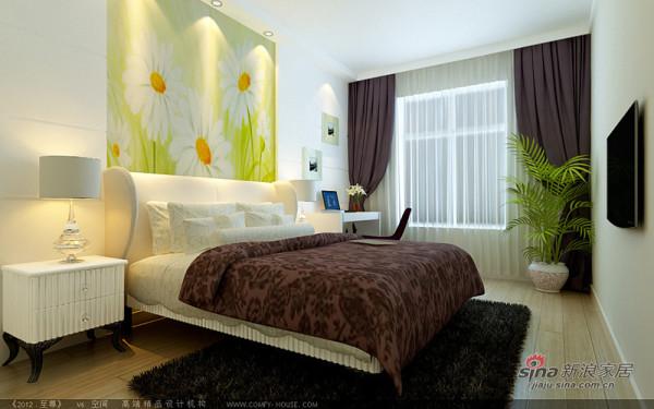 卧室用色非常温馨给人很舒适的感觉