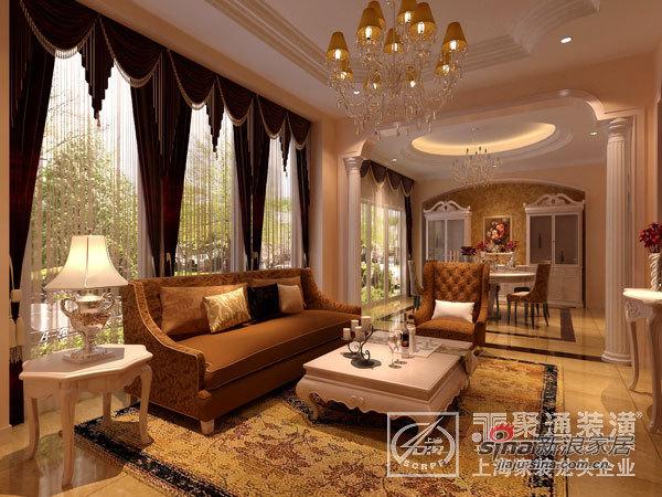 欧式 别墅 客厅图片来自用户2746948411在蓝山别墅设计样板间30的分享