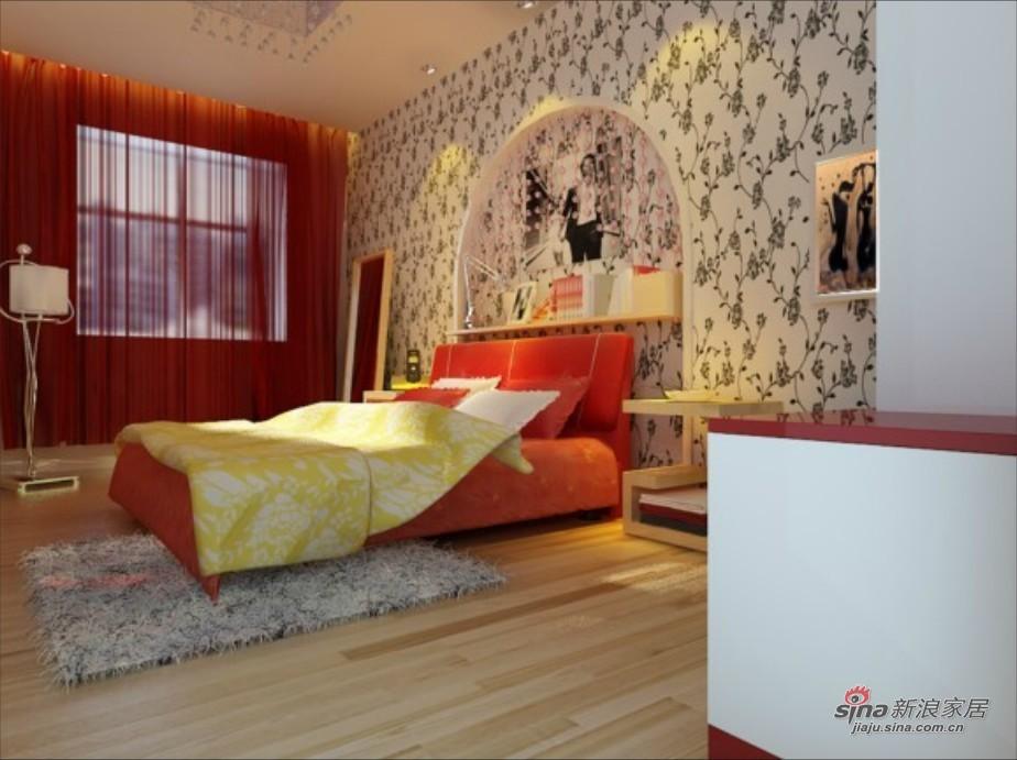 简约 三居 卧室图片来自用户2737759857在6.3万搞定108平简约时尚潮流三居室57的分享