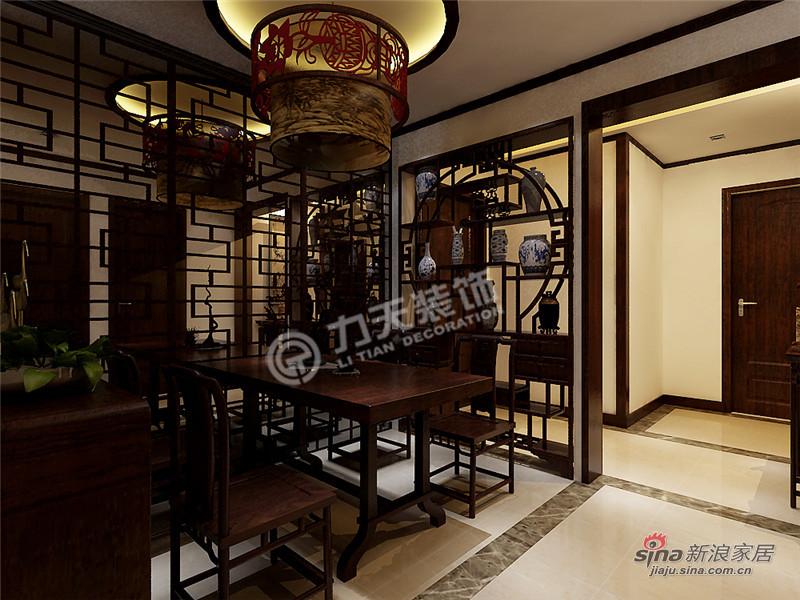 中式 三居 餐厅图片来自阳光力天装饰在枫丹天城- 三室两厅一厨两卫-中式93的分享
