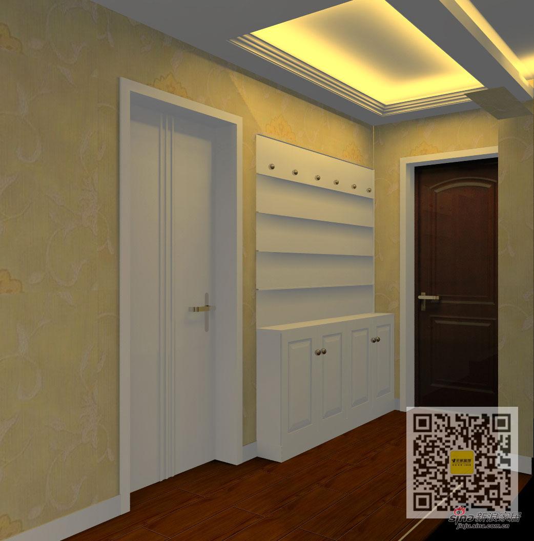 欧式 二居 玄关图片来自用户2746889121在100平简欧风格设计36的分享