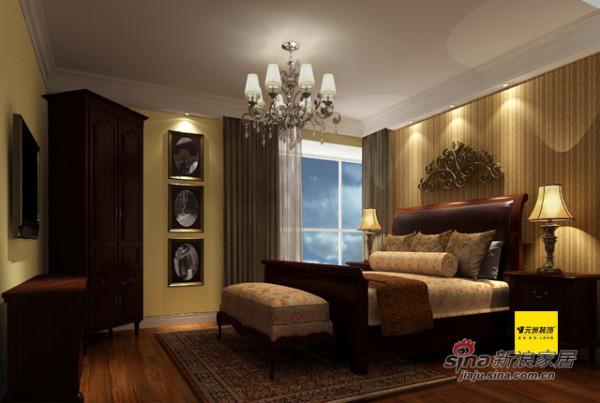 8万装206平米国风上观美式风格四居卧室