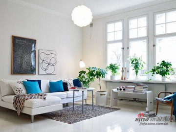 北欧风格的白色精致小户型装修20