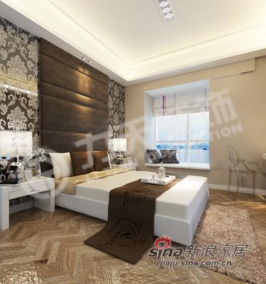 欧式 二居 卧室图片来自阳光力天装饰在103平欧式两居小玻璃 大光源76的分享