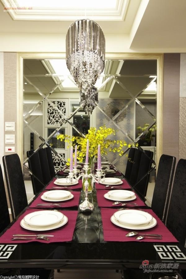 搭配灯光营造浪漫用餐气氛