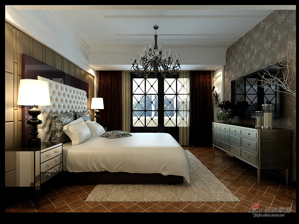 欧式 四居 卧室图片来自用户2772856065在180平欧式豪宅案例81的分享