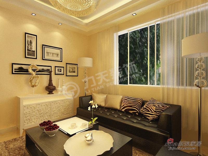 简约 二居 客厅图片来自阳光力天装饰在两室一厅现代简约美家61的分享