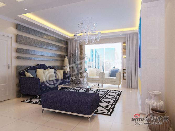 欧式 三居 客厅图片来自阳光力天装饰在福晟钱隆城129平米简欧11的分享