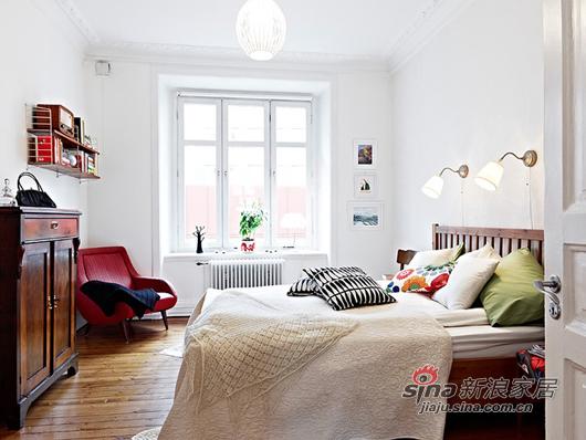 北欧 一居 卧室图片来自用户1903515612在80后小夫妻85平北欧风简约温馨家39的分享