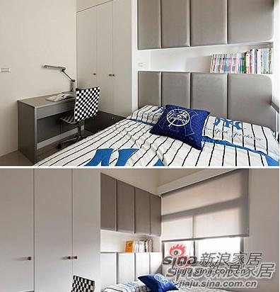 简约 三居 卧室图片来自用户2737735823在6.1万魅装110平纯净3居家38的分享