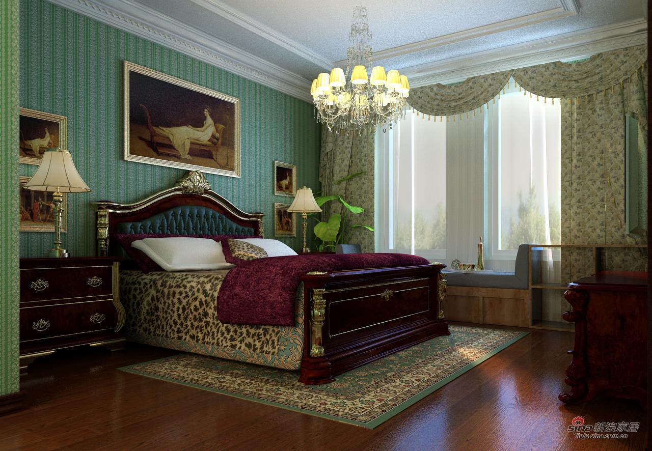 地中海 三居 卧室图片来自用户2757320995在地中海142平幸福田园3居61的分享
