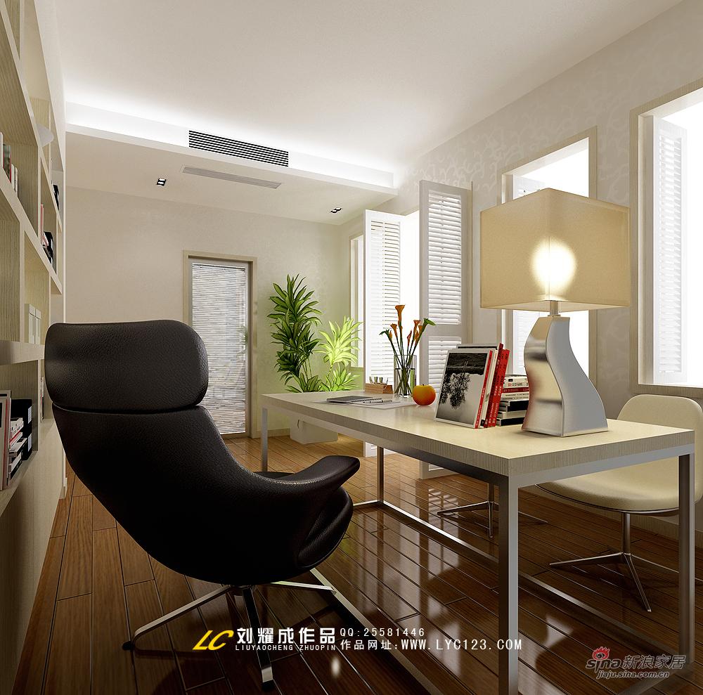 简约 复式 书房图片来自用户2739153147在【高清】品味古典与现代交相辉映的复式豪宅58的分享