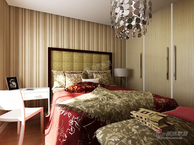 简约 二居 卧室图片来自用户2737786973在振业城中央 120㎡-二室一厅-现代简约76的分享