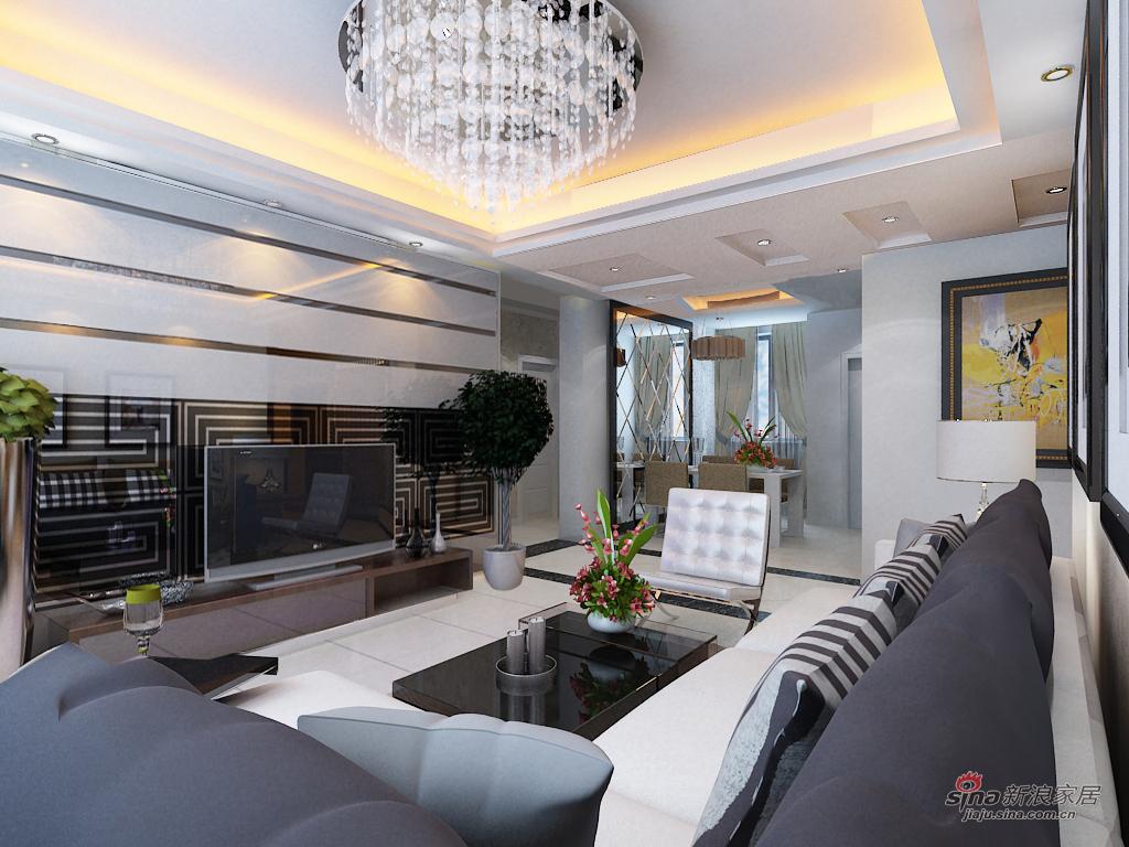混搭 三居 客厅图片来自用户1907655435在7万元打造 瞰海尚府153平米 三局 混搭风格33的分享