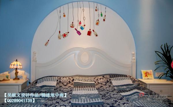 地中海风格主卧床头背景