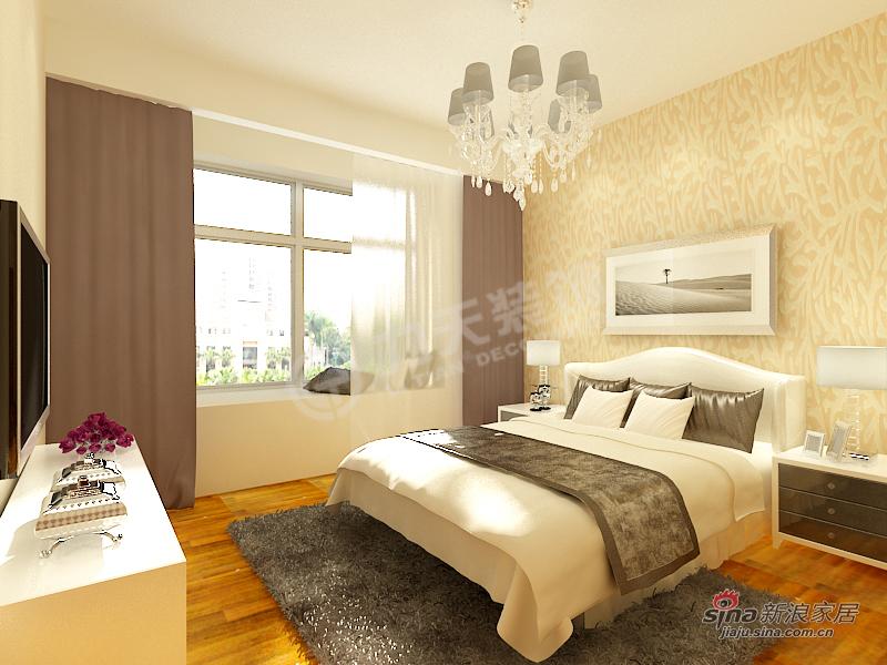 简约 三居 卧室图片来自阳光力天装饰在泽信·金汇湾-3室2厅1卫-现代简约37的分享