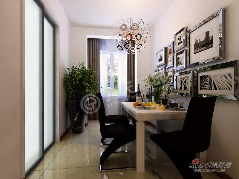 简约 三居 餐厅图片来自阳光力天装饰在【高清】3室2厅现代简约风格美居36的分享