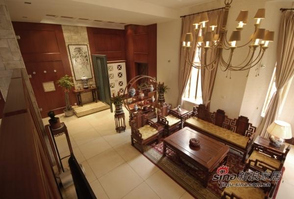 中式 别墅 书房图片来自用户1907662981在320平古韵悠远中式风格别墅35的分享