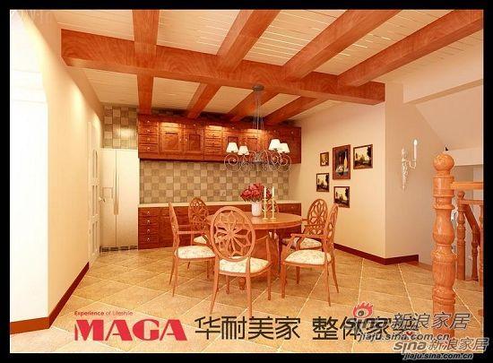 田园 别墅 餐厅图片来自用户2737946093在田园风格联排别墅18的分享