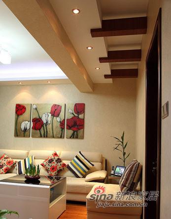 简约 三居 客厅图片来自用户2738820801在6.5万改造88平老房变欧式小窝35的分享