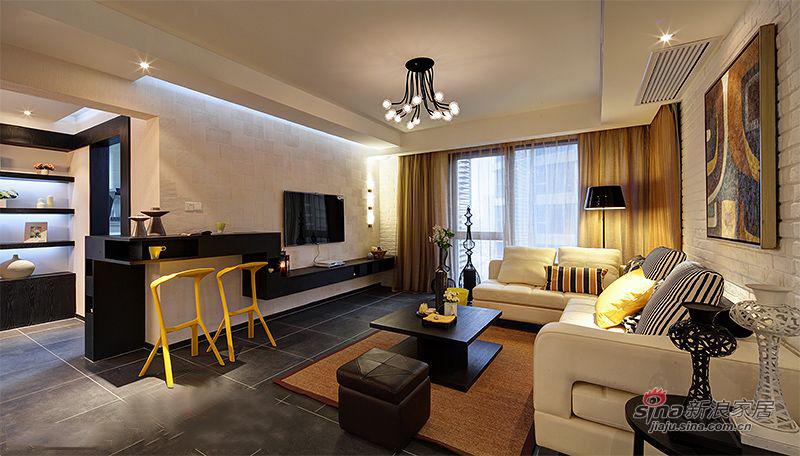 简约 三居 客厅图片来自装修微日记在【高清】9万打造138平简约大气时尚之家80的分享