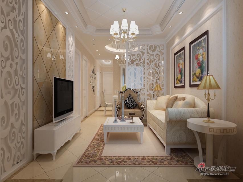 简约 二居 客厅图片来自用户2558728947在6.5万全包演绎90平时尚温馨两居室装修98的分享