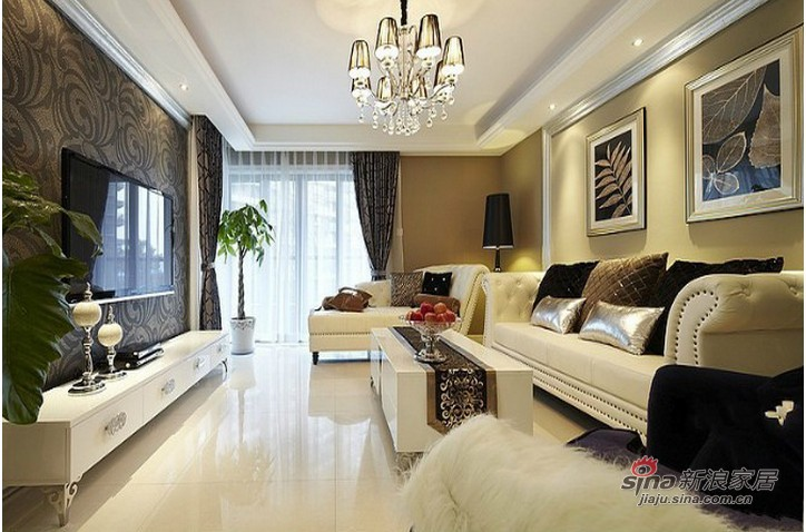 欧式 三居 客厅图片来自用户2745758987在东方太阳城140平欧式高贵典雅3居室20的分享