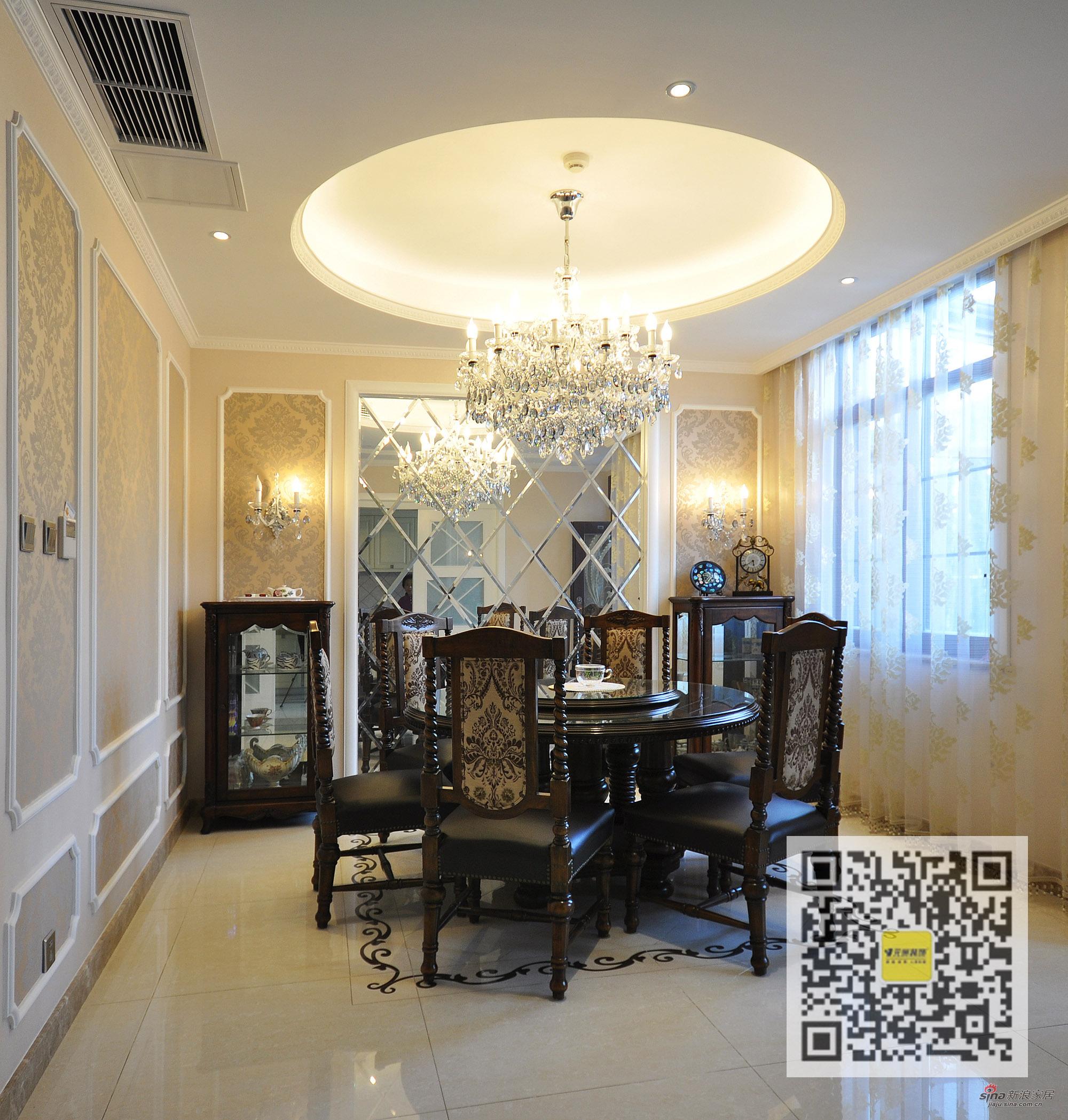 欧式 别墅 餐厅图片来自用户2746948411在燕西台欧式新古典别墅装修设计31的分享