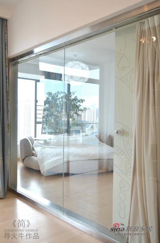 透视玻璃远看卧室