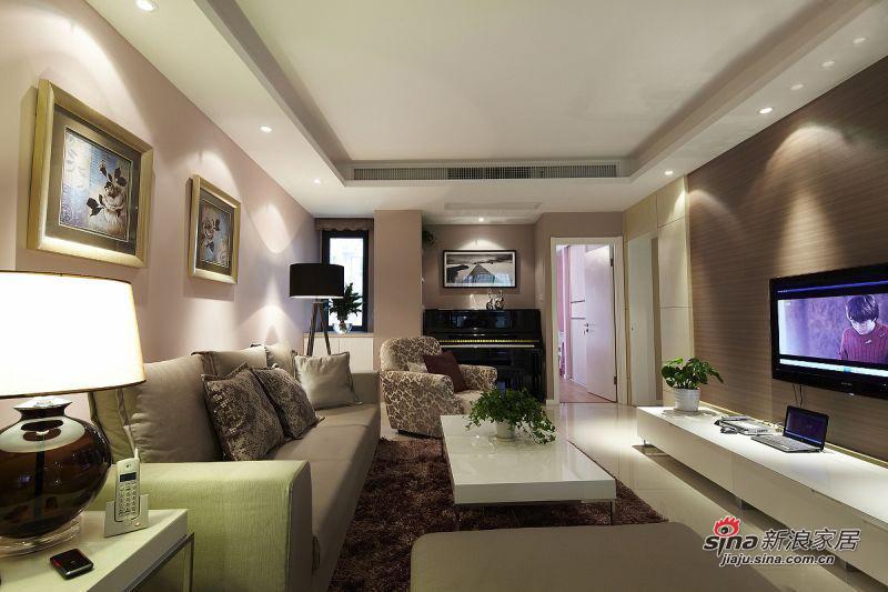 简约 二居 客厅图片来自用户2739378857在6万实景秀108平时尚简约系乐活家13的分享