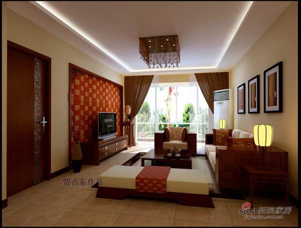 中式客厅全景