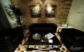现代 loft 客厅 文艺青年图片来自装修微日记在【高清】83平黑白酷炫时尚现代loft38的分享