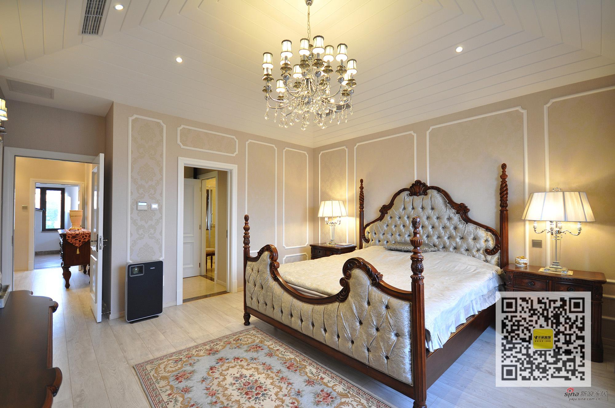欧式 别墅 卧室图片来自用户2746948411在燕西台欧式新古典别墅装修设计31的分享
