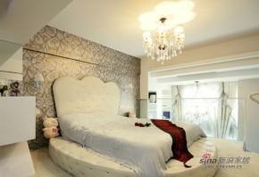 现代 loft 卧室 美式 奢华 公主房图片来自家装大管家在【高清】小夫妻69平现代温馨雅致loft79的分享