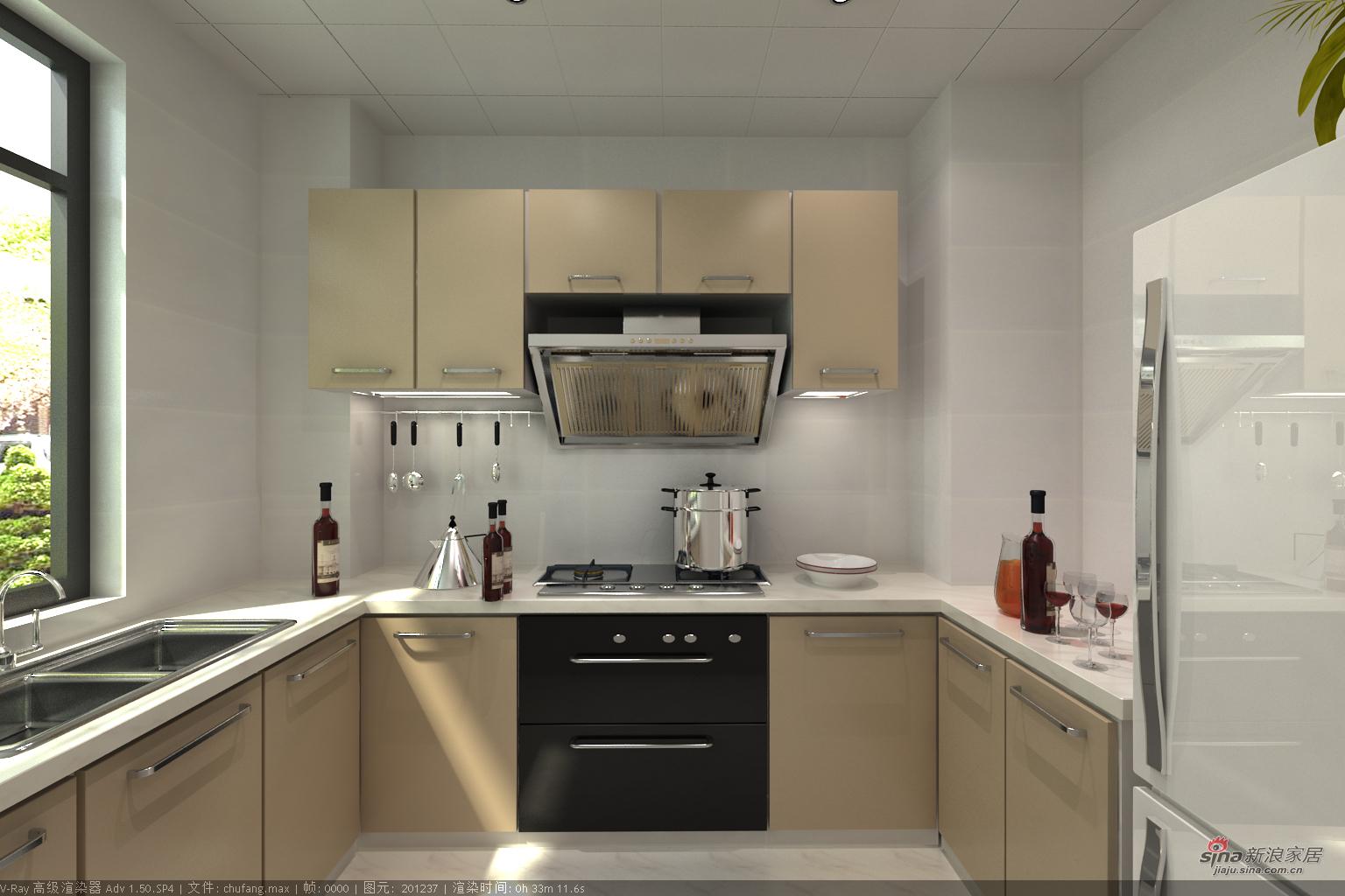 田园 四居 厨房图片来自用户2737791853在美景140平田园4居32的分享