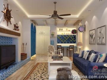 欧珀城地中海风情装修110平高品质二居室!12