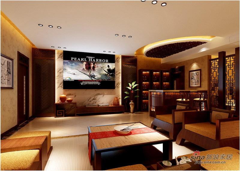 中式 别墅 客厅图片来自用户1907659705在260平中西结合庄重优雅别墅设计67的分享