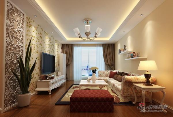方案一:客厅