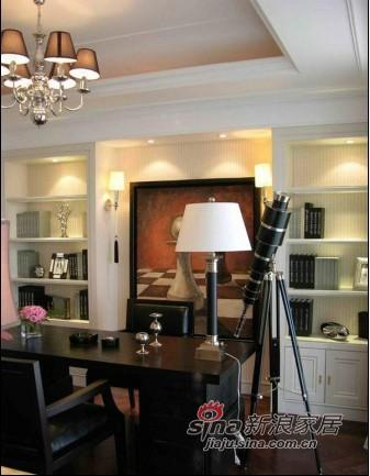 欧式 三居 书房图片来自用户2757317061在新婚夫妇10万装190平简欧大平层82的分享