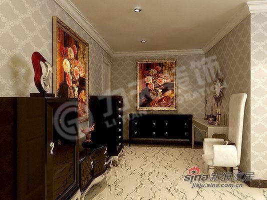 欧式 二居 玄关图片来自阳光力天装饰在85平米时尚高贵两居室57的分享
