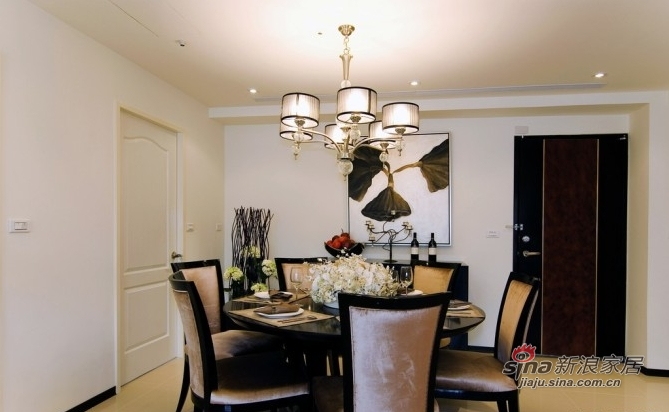 简约 三居 餐厅图片来自用户2737759857在10万装时尚122平暖色三居88的分享