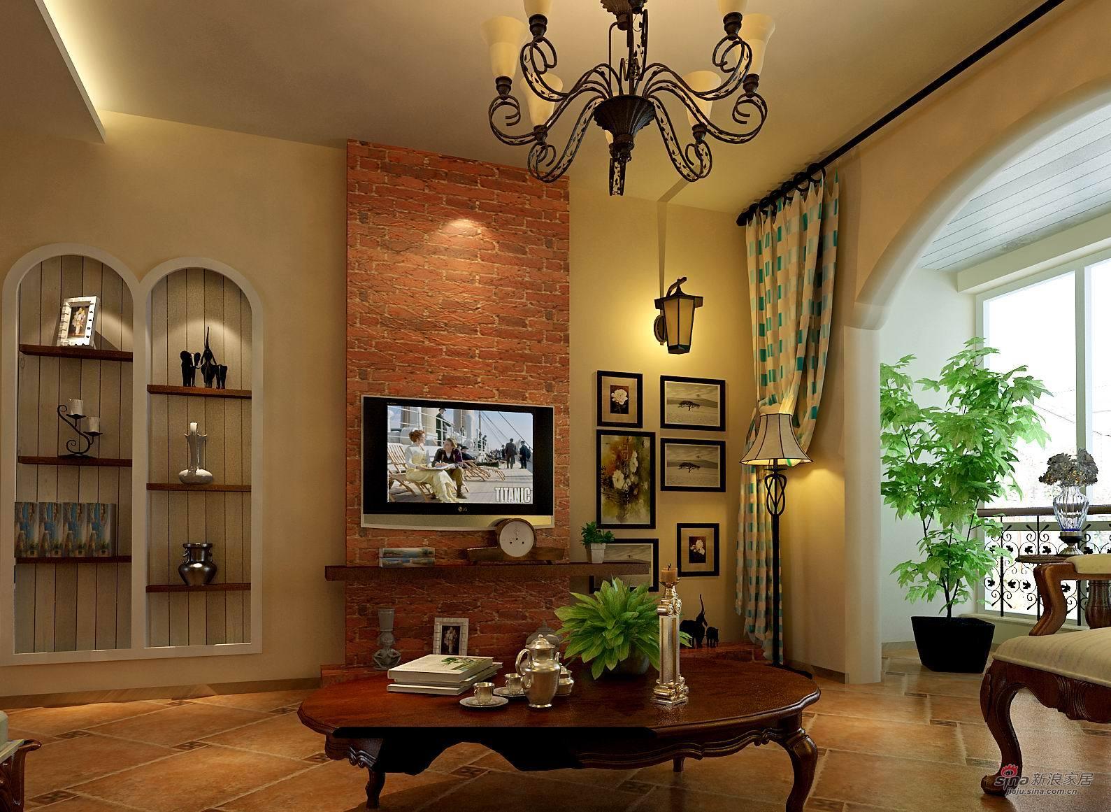 地中海 三居 客厅图片来自用户2757320995在正商新蓝钻地中海田园混搭效果图59的分享