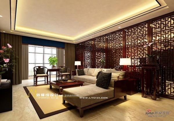 中式花窗元素客厅设计