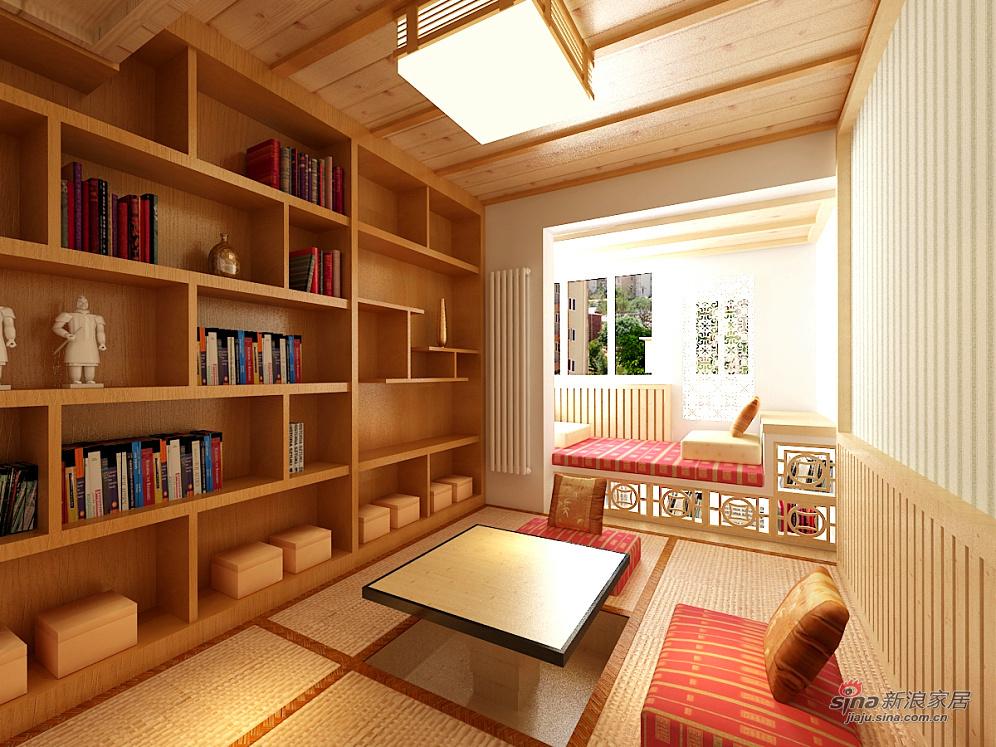 中式 三居 书房图片来自用户1907696363在合理利用三居室空间53的分享