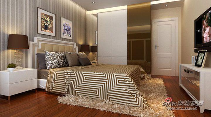 简约 三居 卧室图片来自用户2739378857在131平三居室装修设计案例75的分享