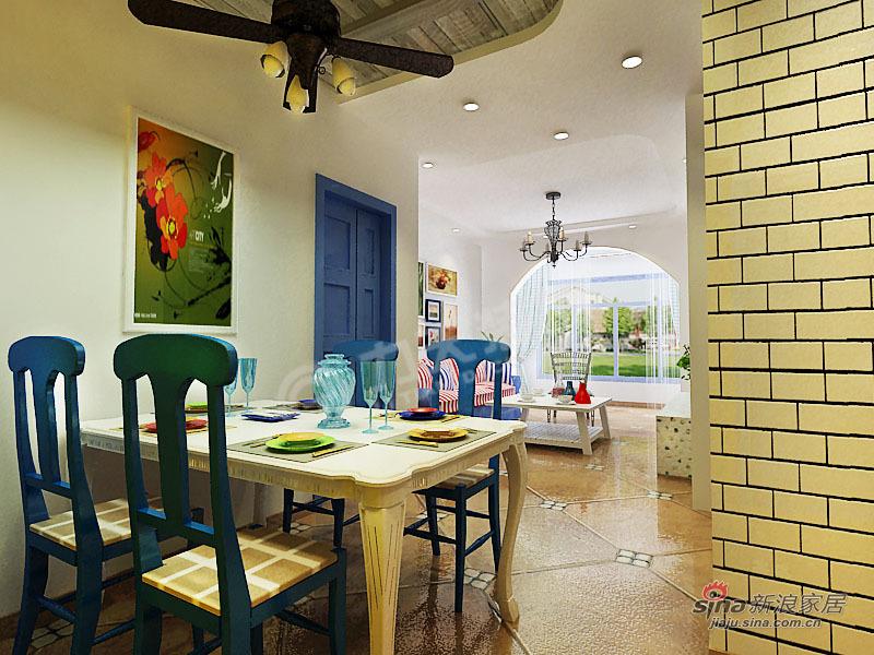 地中海 二居 餐厅图片来自阳光力天装饰在两室两厅地中海风格家装设计78的分享
