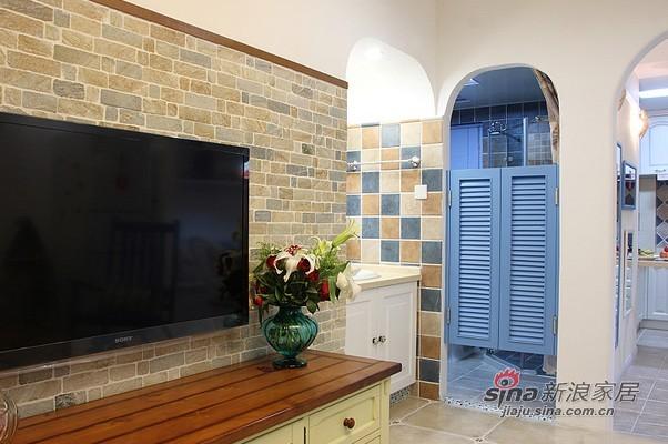 地中海 二居 客厅图片来自用户2756243717在贤惠太太晒91平网购地中海2居31的分享