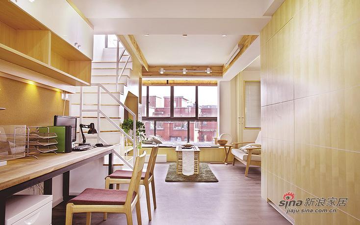 简约 loft 书房图片来自用户2737950087在【高清】超清爽70平日式素雅loft16的分享