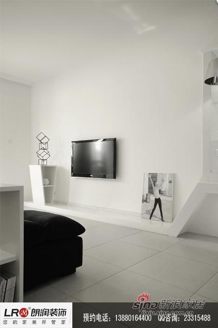 简约 二居 客厅图片来自装修微日记在【高清】单身白领70平黑白灰极简居20的分享